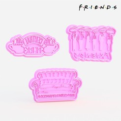 1.jpg Download STL file Friends TV series cookie cutter set of 9 • Object to 3D print, roxengames