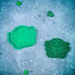 Descargar archivos 3D Baby Yoda Mandalorian con cubos de galletas, roxengames