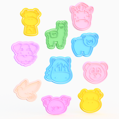 Screenshot_2.png Download STL file Animals cookie cutter set of 40 • 3D printer template, roxengames