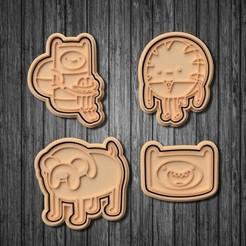 poster 1.jpg Télécharger fichier STL Ensemble de 7 biscuits à l'emporte-pièce Adventure Time • Plan pour imprimante 3D, roxengames