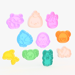Screenshot_1.png Download STL file Animals cookie cutter set of 10 #4 • 3D printing design, roxengames