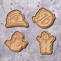 Download STL Ghostbusters cookie cutter set of 4, roxengames