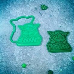 Descargar modelos 3D para imprimir Baby Yoda Mandalorian con el cortador de galletas de piano, roxengames