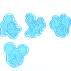 Screenshot_1.png Download STL file Mickey Mouse cookie cutter set of 4 • 3D printing object, roxengames