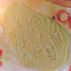 1.jpg Télécharger fichier STL Ensemble de 10 emporte-pièces pour biscuits de Pâques • Design pour imprimante 3D, roxengames