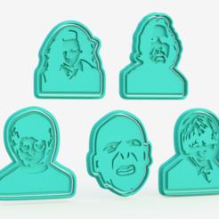 Télécharger objet 3D Ensemble de 5 biscuits à l'emporte-pièce de la silhouette d'Harry Potter, roxengames