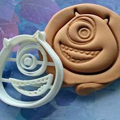 Télécharger fichier imprimante 3D Mike Wazawski à l'emporte-pièce | Monsters Inc., roxengames
