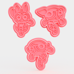 Download STL Powerpuff cookie cutter set of 3, roxengames