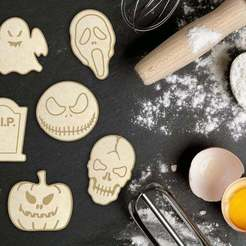 Download STL files Halloween Cookie Cutter Set of 6, roxengames