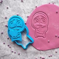 Download 3D printing designs Cute Lover Guy Face Internet Meme Cookie Cutter, roxengames