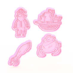 Screenshot_1.png Download STL file Pirate cookie cutter set of 4 • 3D printing design, roxengames