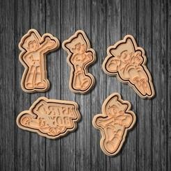 Impresiones 3D Juego de 5 cortadores de galletas Astro Boy, roxengames