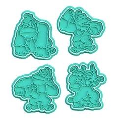 Download STL file Donkey Kong cookie cutter set of 4 • 3D printable model, roxengames