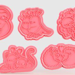 Télécharger fichier impression 3D Saint-Valentin : de mignons animaux à l'emporte-pièce de 5, roxengames