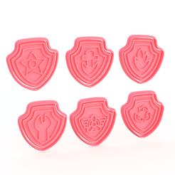 Screenshot_2.png Télécharger fichier STL Logo de la patrouille des patrouilles, ensemble de 6 biscuits à l'emporte-pièce • Objet à imprimer en 3D, roxengames