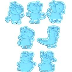 1.jpg Télécharger fichier STL Peppa Pig cookie cutter set de 7 • Modèle à imprimer en 3D, roxengames