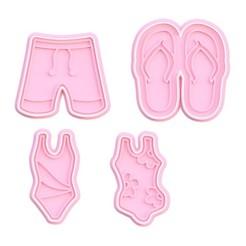 Screenshot_1.jpg Download STL file Beachwear cookie cutter set of 4 • 3D printing template, roxengames