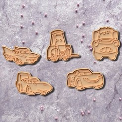 Download 3D printing files Cars cookie cutter set of 5, roxengames