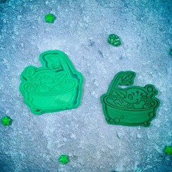 Download 3D print files Baby Yoda Mandalorian in the shower cookie cutter, roxengames