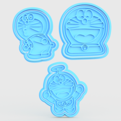 Download 3D printing models  Doraemon cookie cutter set of 3, roxengames