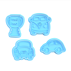 Screenshot_1.png Download STL file Father's day cookie cutter set of 4 • 3D print model, roxengames