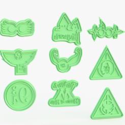 Télécharger fichier impression 3D Ensemble de 9 moules à biscuits Harry Potter, roxengames