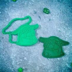 Descargar archivos STL Baby Yoda Mandalorian come un cortador de galletas, roxengames