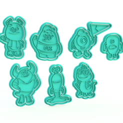 Screenshot_2.png Download STL file Monsters University cookie cutter set of 7 • 3D printable object, roxengames