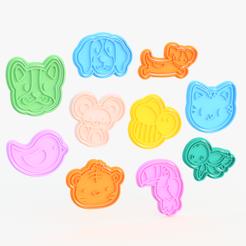 Screenshot_2.png Download STL file Animals cookie cutter set of 10 #3 • 3D printer design, roxengames