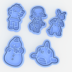Screenshot_1.png Download STL file Doc McStuffins cookie cutter set of 5 • 3D printer template, roxengames