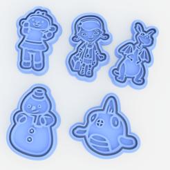 Download STL files Doc McStuffins cookie cutter set of 5, roxengames