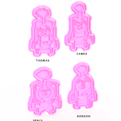 Download 3D printing templates Train Thomas cookie cutter set of 4, roxengames
