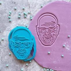 Download 3D printer model Breaking Bad Realistic | Heisenberg /  Walter White cookie cutter, roxengames