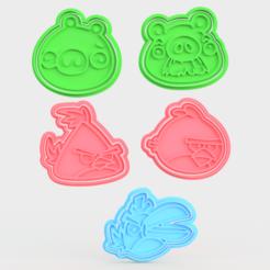 Screenshot_1.png Télécharger fichier STL Oiseaux en colère : un jeu de 5 biscuits à l'emporte-pièce • Modèle pour imprimante 3D, roxengames