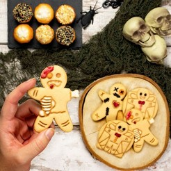 Download 3D printing designs Zombie Gingerbread cookie cutter, roxengames