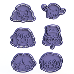Download 3D printing templates Harry Potter cookie cutter set of 6, roxengames