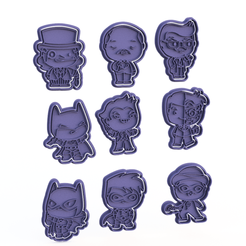 Screenshot_2.png Download STL file Batman Dark Knight cookie cutter set of 9 • 3D printing object, roxengames