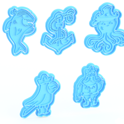 Screenshot_2.png Download STL file Pirate cookie cutter set of 5 • 3D printable design, roxengames