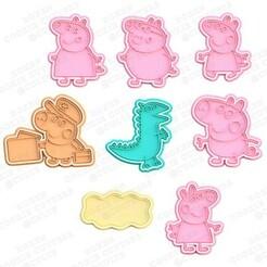 cover.jpg Télécharger fichier STL Peppa Pig cookie cutter set de 8 • Design pour impression 3D, roxengames