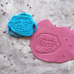 Download 3D model Troll Face Internet Meme Cookie Cutter, roxengames