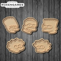 Download 3D printer model The Simpsons cookie cutter of 5, roxengames