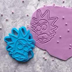 Download 3D printing designs Rick Sanchez from Rick and Morty Cookie Cutter, roxengames