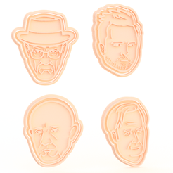 Download 3D printing files Breaking bad TV series cookie cutter set of 10, roxengames