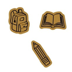 Download 3D printing files School / education cookie cutter set of 3, roxengames