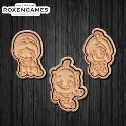 Download 3D printer model Disney Aladdin cookie cutter set of 3, roxengames