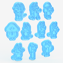 Screenshot_1.png Download STL file Hey duggee / bluey cartoon cookie cutter set of 10 • 3D printer object, roxengames