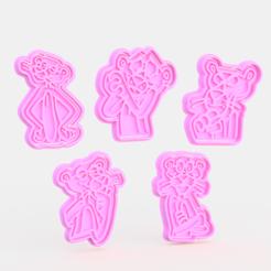 Télécharger objet 3D Ensemble de 5 moules à biscuits Panthère rose, roxengames