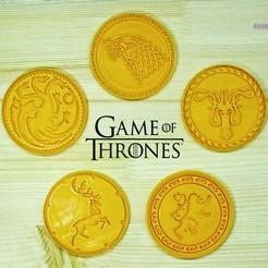 GOT1.jpg Télécharger fichier STL Jeu des coupe-biscuits de Thrones Cookie Cutters Set de 5. Lion, Dragon, Calamar, Loup, Loup, Cerf • Modèle pour imprimante 3D, roxengames