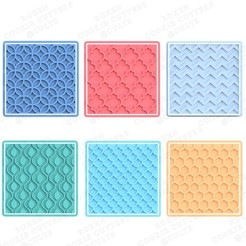 1.jpg Download STL file Pattern cookie cutter set of 6 • 3D print template, roxengames