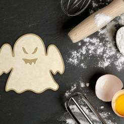 Download STL Halloween Ghost Cookie Cutter, roxengames